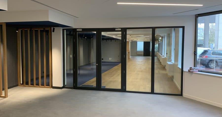 Photo de l'accès au wellness training de l'immeuble Seine Etoile à Suresnes (Société de La Tour Eiffel).