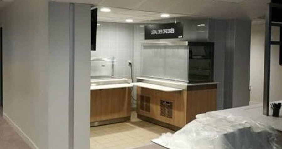 Photo aménagement du restaurant inter entreprise du 2 place des Vosges à Courbevoie - La Défense.