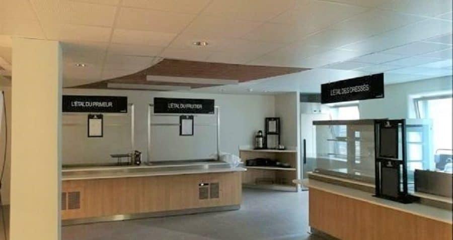 Photo des kiosques sur le restaurant inter entreprise du 2 place des Vosges à Courbevoie - La Défense.
