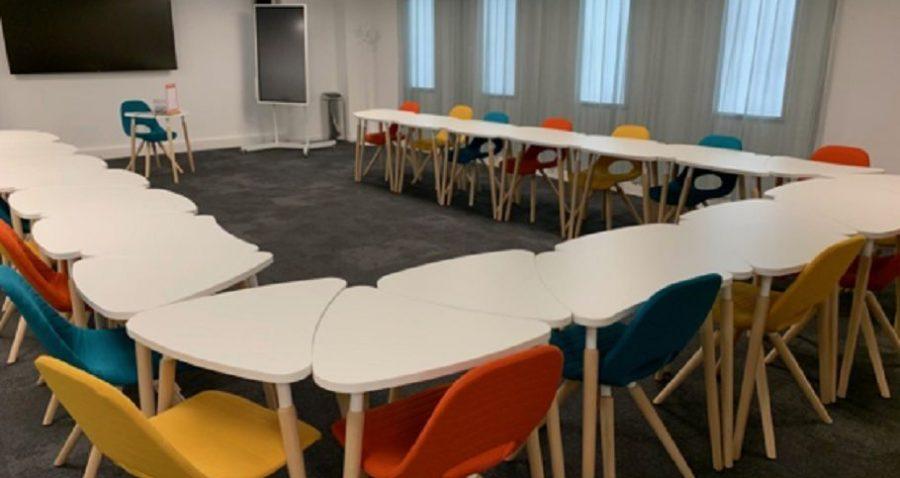 Photo espace de réunion Multiburo Montparnasse. Travaux réalisés par HProject.