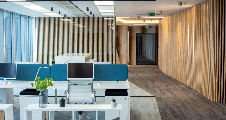 Photo bureaux immeuble copernic à Massy (91). Travaux réalisés par HProject.