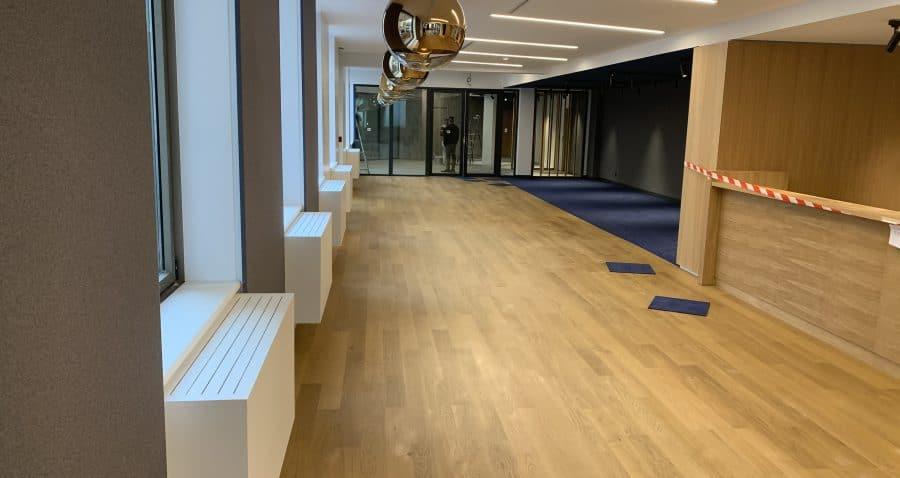 Photo de l'intérieur du wellness training de l'immeuble Seine Etoile à Suresnes (Société de La Tour Eiffel).