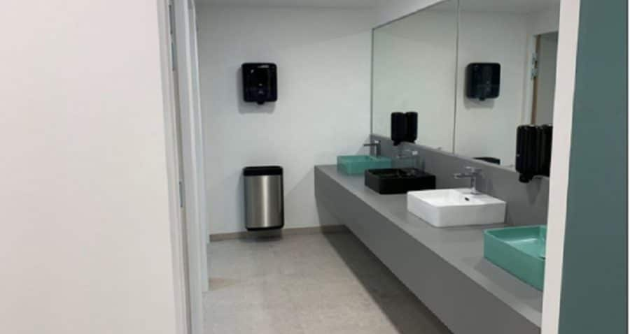 Photo sanitaires Multiburo Montparnasse. Travaux réalisés par HProject.